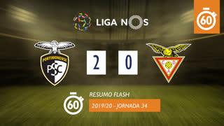 Liga NOS (34ªJ): Resumo Flash Portimonense 2-0 CD Aves