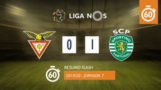 Liga NOS (7ªJ): Resumo Flash CD Aves 0-1 Sporting CP