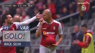 GOLO! SC Braga, Raúl Silva aos 45', SC Braga 2-0 Portimonense