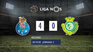 Liga NOS (2ªJ): Resumo FC Porto 4-0 Vitória FC