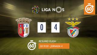 Liga NOS (4ªJ): Resumo Flash SC Braga 0-4 SL Benfica