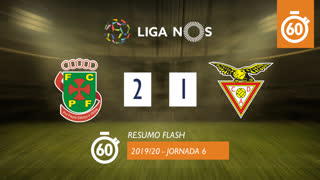 Liga NOS (6ªJ): Resumo Flash FC P.Ferreira 2-1 CD Aves