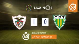 Liga NOS (21ªJ): Resumo Flash Santa Clara 1-0 CD Tondela