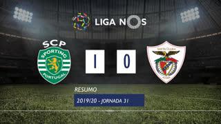 Liga NOS (31ªJ): Resumo Sporting CP 1-0 Santa Clara