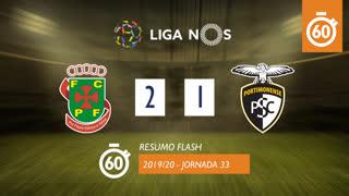 Liga NOS (33ªJ): Resumo Flash FC P.Ferreira 2-1 Portimonense