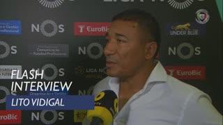 Liga (5ª): Flash Interview Lito Vidigal