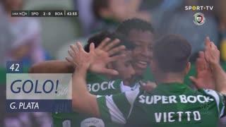 GOLO! Sporting CP, G. Plata aos 42', Sporting CP 2-0 Boavista FC