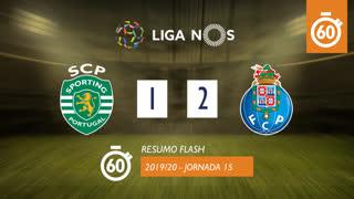 Liga NOS (15ªJ): Resumo Flash Sporting CP 1-2 FC Porto
