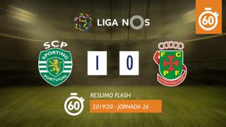 Liga NOS (26ªJ): Resumo Flash Sporting CP 1-0 FC P.Ferreira