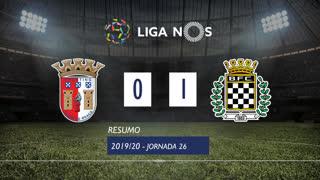 I Liga (26ªJ): Resumo SC Braga 0-1 Boavista FC