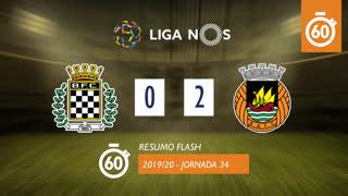 Liga NOS (34ªJ): Resumo Flash Boavista FC 0-2 Rio Ave FC