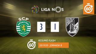 Liga NOS (8ªJ): Resumo Flash Sporting CP 3-1 Vitória SC