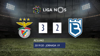 Liga NOS (19ªJ): Resumo SL Benfica 3-2 Belenenses SAD