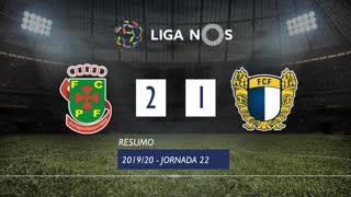 Liga NOS (22ªJ): Resumo FC P.Ferreira 2-1 FC Famalicão