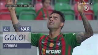 GOLO! Marítimo M., Correa aos 65', Marítimo M. 1-1 SC Braga