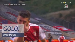 GOLO! SC Braga, Paulinho aos 1', SC Braga 1-0 Vitória SC