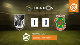 Liga NOS (7ªJ): Resumo Flash Vitória SC 1-0 FC P.Ferreira