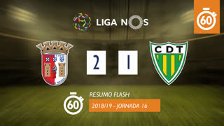 I Liga (16ªJ): Resumo Flash SC Braga 2-1 CD Tondela