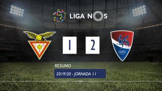 I Liga (11ªJ): Resumo CD Aves 1-2 Gil Vicente FC