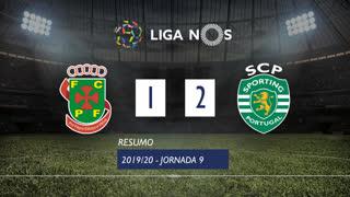 Liga NOS (9ªJ): Resumo FC P.Ferreira 1-2 Sporting CP