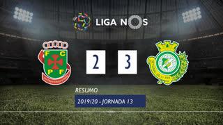 Liga NOS (13ªJ): Resumo FC P.Ferreira 2-3 Vitória FC