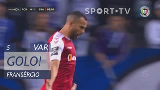 GOLO! SC Braga, Fransérgio aos 5', FC Porto 0-1 SC Braga