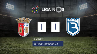 Liga NOS (32ªJ): Resumo SC Braga 1-1 Belenenses