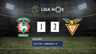 Liga NOS (19ªJ): Resumo Marítimo M. 1-2 CD Aves