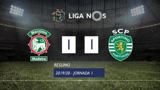 Liga NOS (1ªJ): Resumo Marítimo M. 1-1 Sporting CP
