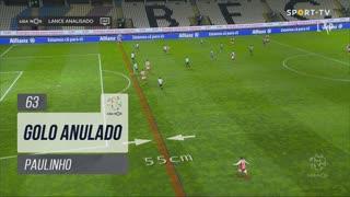 SC Braga, Golo Anulado, Paulinho aos 63'