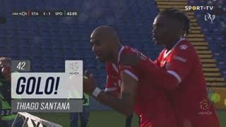 GOLO! Santa Clara, Thiago Santana aos 42', Santa Clara 1-1 Sporting CP