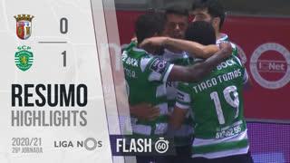 Liga NOS (29ªJ): Resumo Flash SC Braga 0-1 Sporting CP