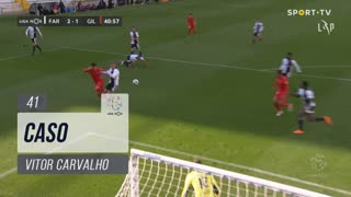 Gil Vicente FC, Caso, Vitor Carvalho aos 41'