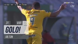 GOLO! FC P.Ferreira, Uilton aos 31', Rio Ave FC 0-1 FC P.Ferreira