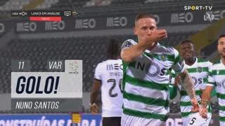 GOLO! Sporting CP, Nuno Santos aos 11', Vitória SC 0-1 Sporting CP