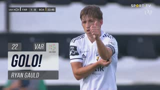 GOLO! SC Farense, Ryan Gauld aos 22', SC Farense 1-0 Boavista FC