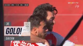 GOLO! SC Braga, Gaitán aos 36', SC Braga 1-0 Belenenses SAD