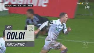 GOLO! Sporting CP, Nuno Santos aos 43', CD Nacional 0-1 Sporting CP