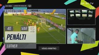 FC P.Ferreira, Penálti, Luther aos 40'
