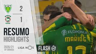 Liga NOS (19ªJ): Resumo Flash CD Tondela 2-1 Marítimo M.
