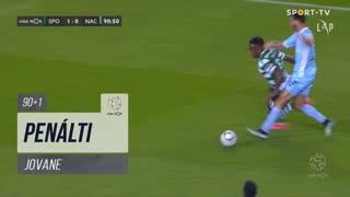 Sporting CP, Penálti, Jovane aos 90'+1'