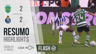 Liga NOS (4ªJ): Resumo Flash Sporting CP 2-2 FC Porto
