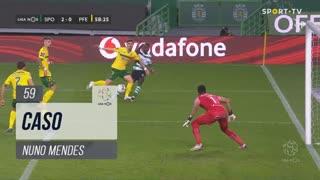 Sporting CP, Caso, Nuno Mendes aos 59'
