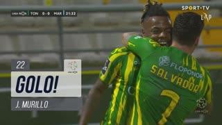 GOLO! CD Tondela, J. Murillo aos 22', CD Tondela 1-0 Marítimo M.
