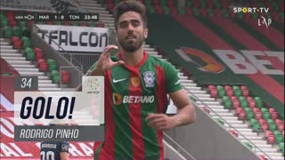 GOLO! Marítimo M., Rodrigo Pinho aos 34', Marítimo M. 1-0 CD Tondela