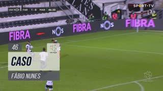 SC Farense, Caso, Fábio Nunes aos 46'