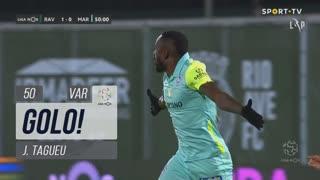 GOLO! Marítimo M., J.Tagueu aos 50', Rio Ave FC 1-1 Marítimo M.
