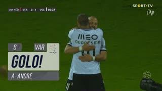 GOLO! Vitória SC, A. André aos 6', Santa Clara 0-1 Vitória SC