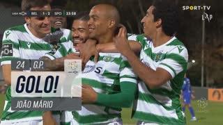 GOLO! Sporting CP, João Mário aos 24', Belenenses SAD 1-2 Sporting CP
