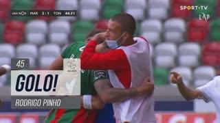 GOLO! Marítimo M., Rodrigo Pinho aos 45', Marítimo M. 2-1 CD Tondela